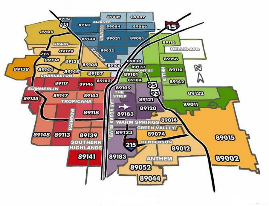 Zip Code Map Las Vegas Clark County NV | RE/MAX 702-508-8262